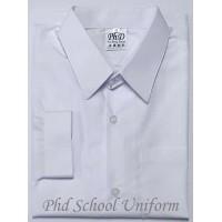 PhD White Long Sleeves School Uniform