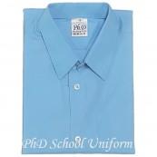Size 10-16.5 PhD Light Blue Shirt Short Sleeve School Uniform | Baju Seragam Sekolah Lengan Pendek Biru Muda