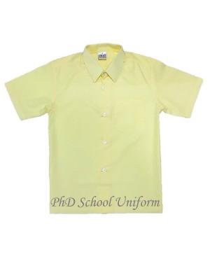 Size 10-14.5 PhD Yellow Short Sleeves School Uniform | Baju Sekolah Lengan Pendek Kuning