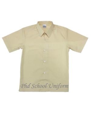 Size 10-19 PhD Beige Shirt Short Sleeve Best School Uniform   Baju Beige Seragam Sekolah Lengan Pendek Berkualiti