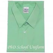 Size 9-19 PhD Light Green Shirt Short Sleeve Best School Uniform | Baju Sekolah Hijau Lengan Pendek BerKualiti