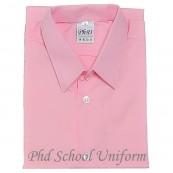 Size 9-19 PhD Pink Shirt Short Sleeve Best School Uniform | Baju Sekolah Merah Jambu Berkualiti Seragam Lengan Pendek