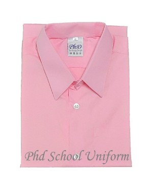 Size 10-14.5 PhD Pink Short Sleeves School Uniform | Baju Sekolah Lengan Pendek Merah Jambu