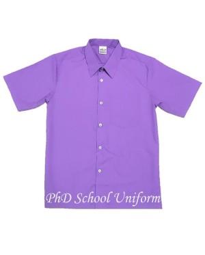 Size 10-14.5 PhD Purple Short Sleeves School Uniform | Baju Sekolah Lengan Pendek Ungu