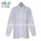 Size 10-19 PhD White Shirt Long Sleeve Best School Uniform   Baju Sekolah Seragam Lengan Panjang Putih Lembut Selesa