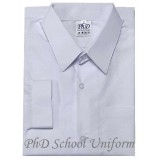 PH White Long Sleeves School Uniform (Size 18-19) | Baju Sekolah Lengan Panjang Putih