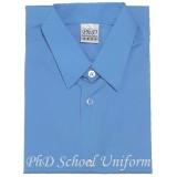 Size15-20 PhD Blue Short Sleeves School Uniform | Baju Sekolah Lengan Pendek Biru