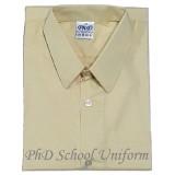 Size15-20 PhD Beige Short Sleeves School Uniform | Baju Sekolah Lengan Pendek Beige