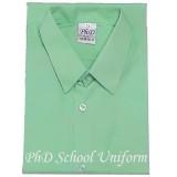 Size15-20 PhD Light Green Short Sleeves School Uniform | Baju Sekolah Lengan Pendek Hijau Muda