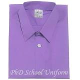 Size15-20 PhD Purple Short Sleeves School Uniform | Baju Sekolah Lengan Pendek Ungu