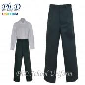 Waist 24-36 Length 36,38,40,42 PhD Pleated Olive Green Long Pant Secondary School | Seluar Panjang Hijau Sekolah Menengah