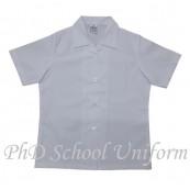 PhD School Uniform Girl White Blouse (Size 14-17) | Baju Sekolah Perempuan Lengan Pendek Putih