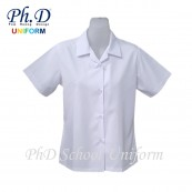 PhD School Uniform Girl White Blouse (Size 14,15,16,17,18,19,20,21,22) | Baju Sekolah Perempuan Lengan Pendek Putih