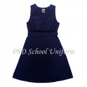 Waist 30 Length 30, 32, 34, 36, 38 PhD School Uniform Primary Dress - Navy | Baju Pinafore Sekolah Rendah Perempuan