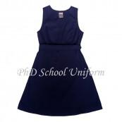 Waist 34 Length 34, 36, 38 PhD School Uniform Primary Dress - Navy | Baju Pinafore Sekolah Rendah Perempuan
