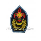 PhD Scout Embroidery Cap Badge | Lencana Sulaman Topi Pengakap