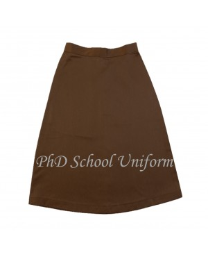 Waist 35 Length 25,26,27  PhD Brown Short Skirt School Uniform | Skirt Pendek Brown Seragam Sekolah Perempuan