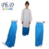 PhD School Uniform (Size SS-XXL) Kain Kurung Secondary   Kain Kurung Sekolah Menengah-Biru Turquoise