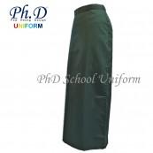 PhD School Uniform (Size 24-28 & XS-XXL) Oive Maxi | Long Skirt | Kain Skirt Labuh Hijau Sekolah Berlipatan Belakang
