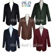 XXL,3XL,4XL,5XL PhD School Black, Navy, Olive, Brown, Maroon Blazer/Jacket/Coat Sekolah Custom Made Only/Tempahan Sahaja