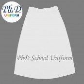 Waist 29,30,31,32 Length 23,24,25,26 PhD White School Short Skirt Custom Made | Tempahan-Skirt Pendek Putih Seragam Sekolah Perempuan