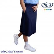 Waist 20 to 42 PhD Primary Navy Blue School Short Skirt With Elastic   Skirt Biru Tua Pendek Sekolah Rendah Perempuan Bergetah