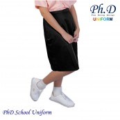Waist 24-36 Length 23,24,25,26  PhD Black Short Skirt School Uniform | Skirt Pendek Hitam Seragam Sekolah Perempuan