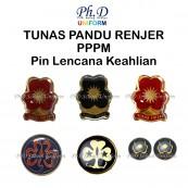 PhD Aksesori Persatuan Pandu Puteri Malaysia|Pin Keahlian-Tunas,Pandu,RenjerPuteri,World Badge/Lencana Dunia&Logo,Collar Dot/Kolar Pin
