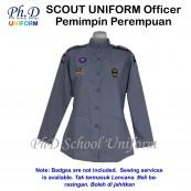 PhD Scout Officer Uniform Female Long Sleeves (Size 11-17) | Pemimpin/Guru Pengakap Perempuan Lengan Panjang