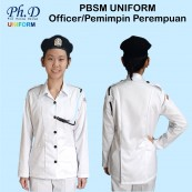 PhD PBSM Officer Uniform Female L/S (Size 11-17) | Pemimpin/Guru Persatuan Bulan Sabit Malaysia Perempuan Lengan Panjang