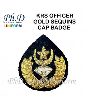 PhD Standard School Beret & 100% Wool Officer | Topi Beret Maroon Green & Officer Cap Badge|Lencana Topi