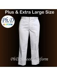 Plus Extra Large Size Waist 37-50 Length 41,43 PhD White Long Pant   Seluar Panjang Putih PBSM BSMM Private School